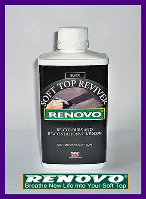 "Renovo Canvas Soft Top Hood ""reviver"" Black 500Ml For Triumph"