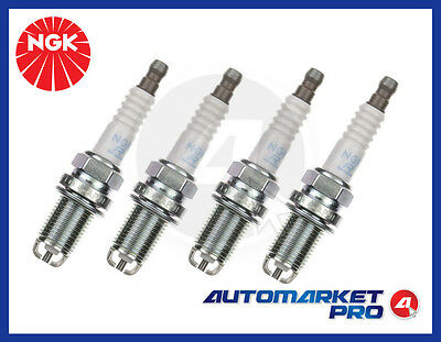 4 Candele Ngk Bkr6Ekc Accensione Fiat Multipla 1.6 16V Natural Bluepower Bipower