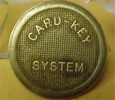 Card-Key System Courtesy Parking Token   9177C