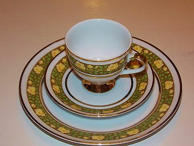 Vintage Mitterteich Bavaria China Tea Cup Trio ~ Cup, Saucer & Plate ~ Roses
