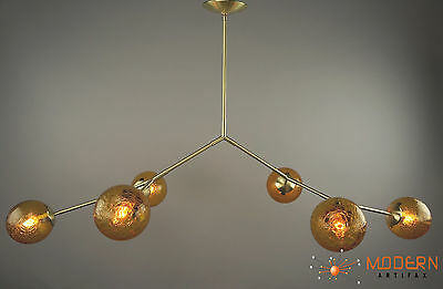 Branching Bubble Lamp Atomic Starburst Chandelier Mid Century Modern Solid Brass