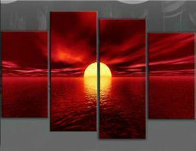 4pc MODERN ABSTRACT WALL DECOR ART CANVAS OIL PAINTING(NO frame)016