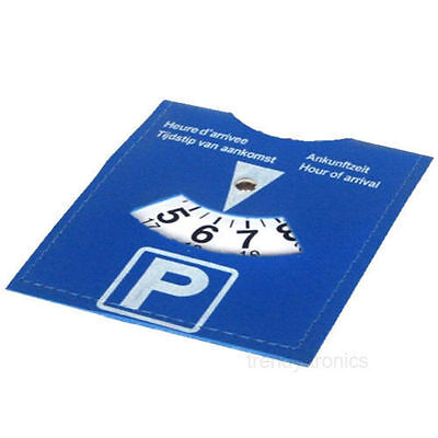 Car Parking Disc With Timer Showing Arrival Time Multi Language Dashboard #15954