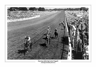 Nijinsky Lestor Piggott 1970 Epsom Derby Horse Racing  A4 Print Photo