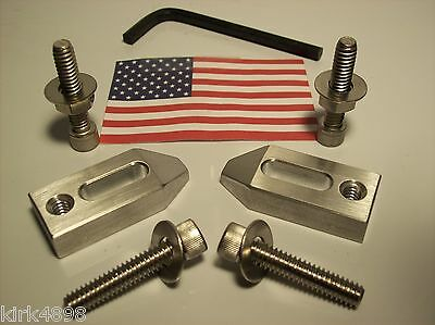 Aluminum Clamp Set For Edm, Mill Or Hobby. Set Of Two With Hardware