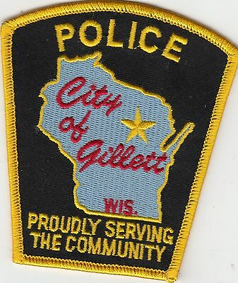 GILLETTE WISCONSIN WI POLICE PATCH