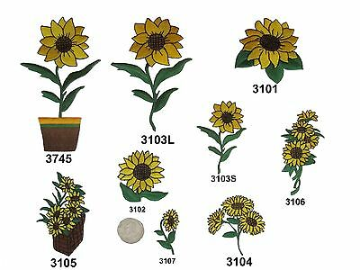 Sun Flower Embroidery Iron On Applique Patch