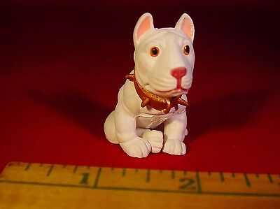"""Hood Pups BULL TERRIER Dog 2"""" Figure hard to find collectible"""