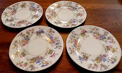 VINTAGE German KPM Royal Ivory The Symphony Porcelain Salad Plates, Set of 4