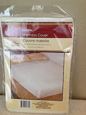 "Full Size Mattress Cover water proof fitted soft plastic 12"" pocket 54 x 75"