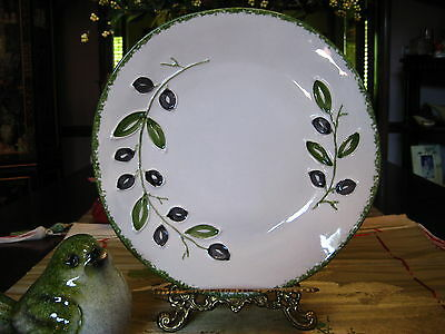 Maioliche Jessica Plum Branch Dinner Plate Hand Made in Italy