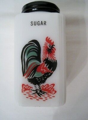VINTAGE TIPP CITY ROOSTER SUGAR SHAKER 4 INCH TALL