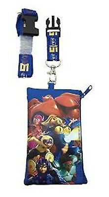 Disney Hero 6 Lanyard With Detachable Coin Pouch/wallet/purse-New!