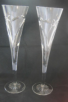 Waterford Wishes Love And Romance Wedding Pair Crystal Champagne Toasting Flutes