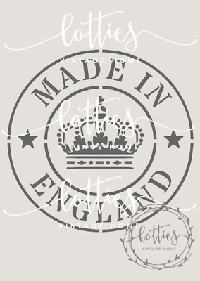 STENCIL A5 - MADE IN ENGLAND ❤ Furniture Fabric Vintage Shabby Chic 190 mylar
