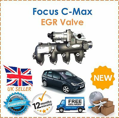 Fits Ford Focus C-MAX 2005-2010 1.8 TDCI  EGR Valve With Manifold NEW