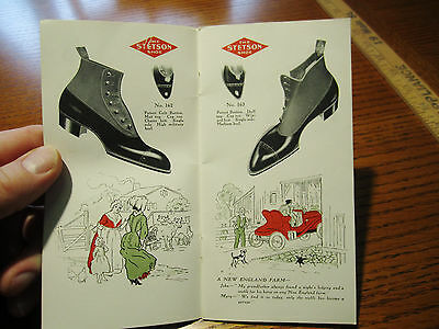 RARE Advertising Trade Catalog - Stetson Shoes - 1906 - GREAT Design