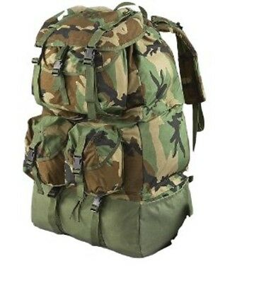 Genuine Military Surplus Army BackPack LARGE camping, Fits modular sleeping bag