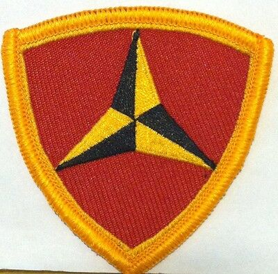 3rd Marine Division Iron-On Patch USMC Tactical Morale Patriotic Emblem