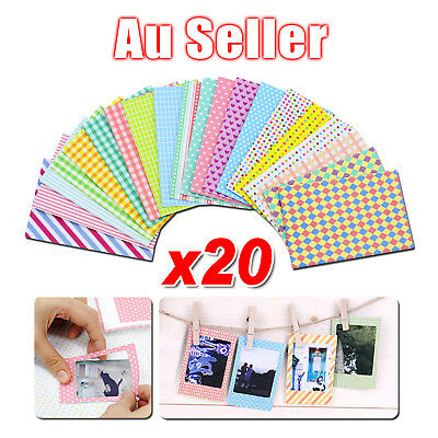 20pcs Polaroid Films Photo Stickers For FujiFilm Instax Mini Instant 8 7S 25 50S
