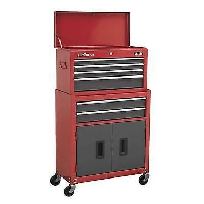 Sealey Topchest/Rollcab Combo 6 Drawer With Ball Bearing Runners - AP2200BB