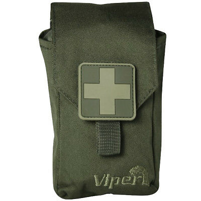 Viper First Aid Hunting Kit Hiking Emergency Medical Molle Safety Pouch Green