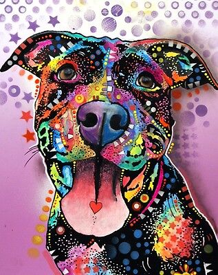 """""""Ms. Understood"""" 8"""" x 10"""" Pit Bull Print - Dean Russo (DR007) NEW FREE SHIPPING"""