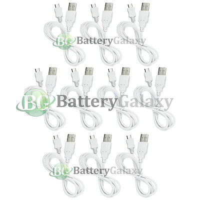 10 NEW Micro USB Charger Cable Cord for Samsung Galaxy Note 1 2 3 4 5 Core Prime