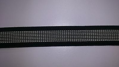 25mm BLACK GRIPPER ELASTIC : 5 METRES : #EL1C