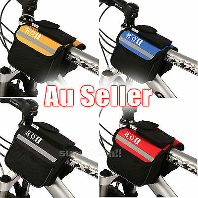 Cycling Bike Bicycle Pannier Frame Saddle Front Tube Bag Double Pouch Cellphone