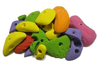 Children's Climbing Holds Starter set. 30 MEDIUM & LARGE HOLDS
