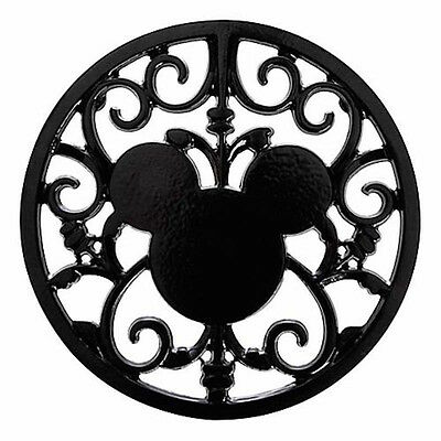 disney parks gourmet mickey mouse icon black hot pad metal trivet new