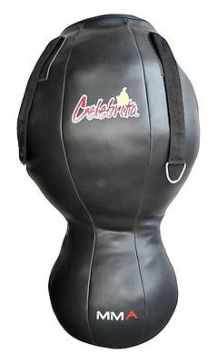 Celebrita Italy Leather MMA Dummy Punching Body Bag - Wide Cylinder