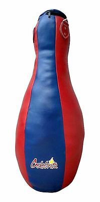 Celebrita Italy MMA Leather - Muay Thai Bowling Pin Heavy Duty Punching Bag