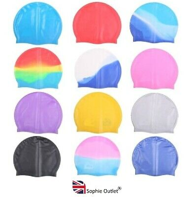 Adult Silicone Elastic Flexible Durable Swimming Hat Comfortable Swimming Cap