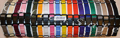 "CollarSafe Set of (16) Soft Nylon Puppy ID ""Snap"" Buckle Collars - Litter Bands"