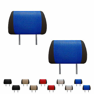 Auto Headrest Cover 1Pair for Sedan SUV Van Truck Piping Fabric