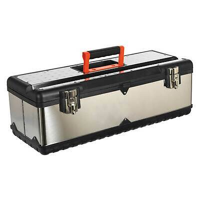 Sealey Stainless Steel Work Tool Storage Toolbox With Tote Tray - 660mm - AP660S
