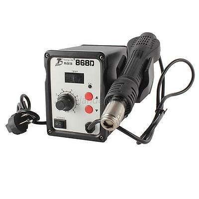 220V 700W SMD Rework Solder Station Digital Electronic Hot Air Heat Gun 868D E64