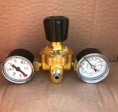 Twin Gauge Regulator for Disposable Gas Bottle Cylinder Mig Welder E97