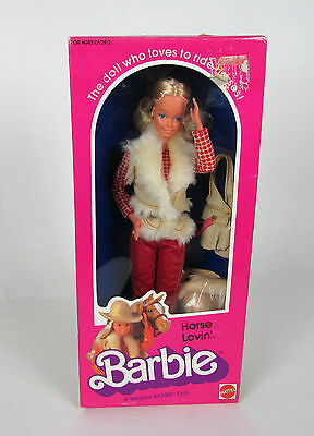 "Authentic 1982 Mattel  "" HORSE LOVIN' #1757 "" Blonde Cowgirl Barbie Doll"