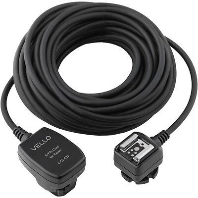 Vello Off-Camera TTL Flash Cord for Canon Cameras (33')