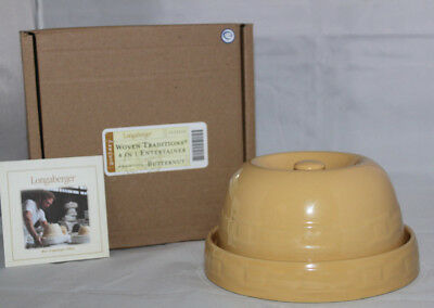 Longaberger Pottery Butternut Woven Traditions 4 in 1 Entertainer New