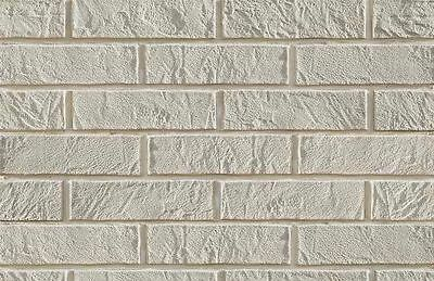 BRICK SLIPS CLADDING WALL TILES FLEXIBLE - 1 Sqm ( m2 ) - WHITE BRICK