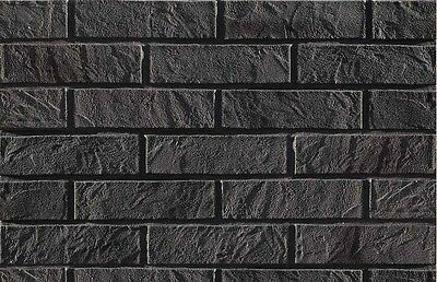 BRICK SLIPS CLADDING WALL TILES FLEXIBLE - 6 Sqm ( m2 ) - GRAPHITE BRICK