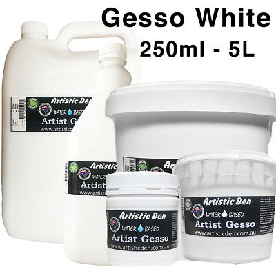 Artist Gesso Primer Canvas Gesso 1L-4L White Canvas Primer Craft Primer