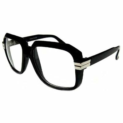 BLACK Old School Rapper Glasses Run Dmc Clear Lenses Fashion Sunglasses
