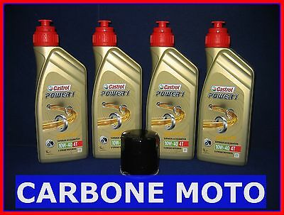 Kit Tagliando Olio Castrol Power 1 10W40 + Filtro Honda Vt 600 C/cd Shadow 1992