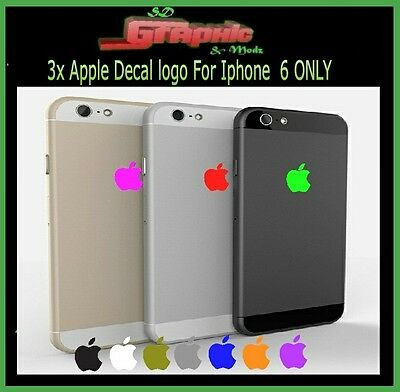 3x Apple Logo Skin Sticker Decal Film for iPhone 6/6s /7