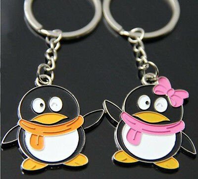 A couple keychain Fashion Metal couples keychains Key Ring for lover F657